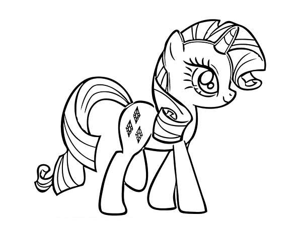 Drawn my little pony rarity My Little Free Coloring Amp