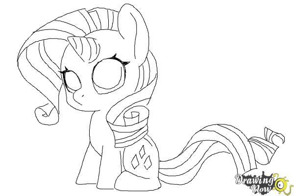 Drawn my little pony rarity Draw Little How Pony Little