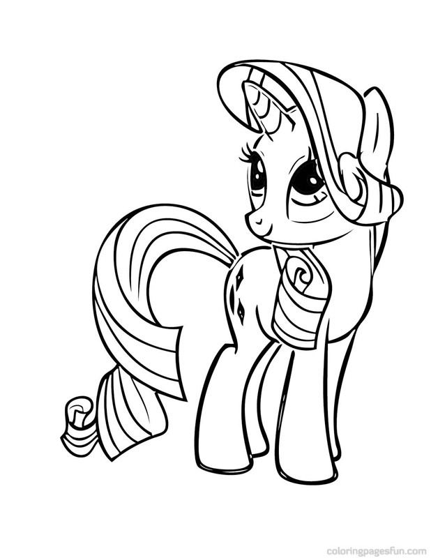 Drawn my little pony rarity Little Little Cute Page Baby