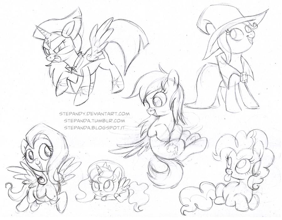 Drawn my little pony sketch Pony Sketches 3 3 Free