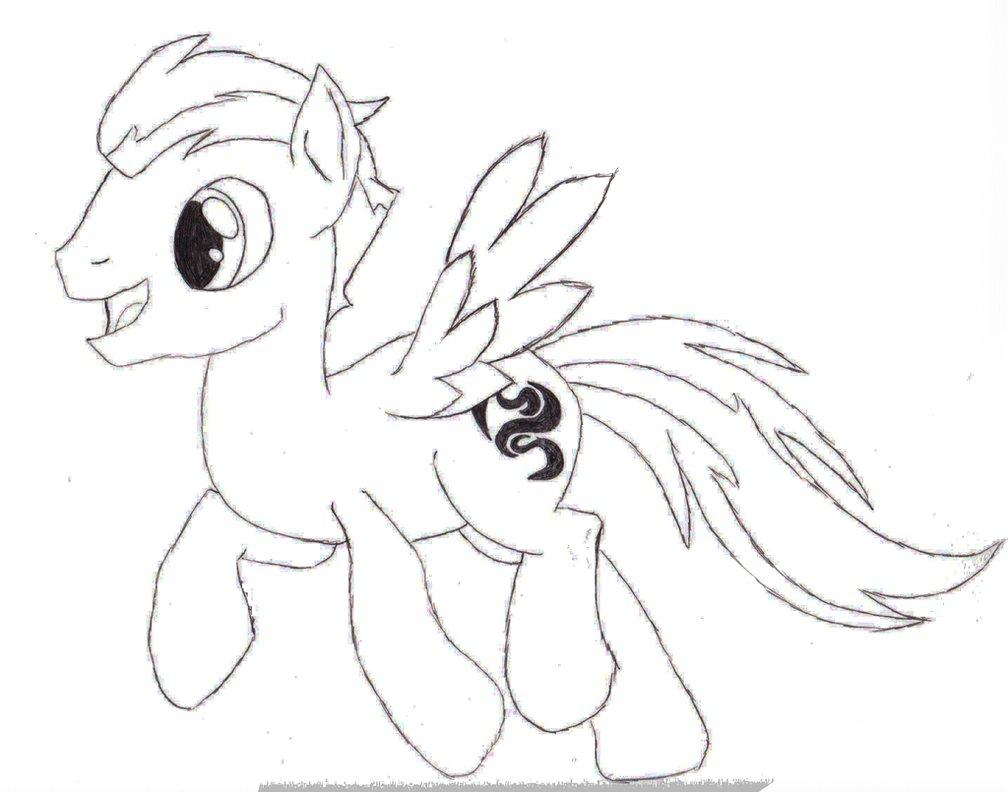 Drawn my little pony sketch Pony Sketch Sketch Windy Pony