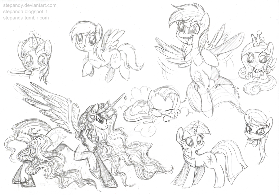 Drawn my little pony sketch Pony Sketches StePandy by Sketches