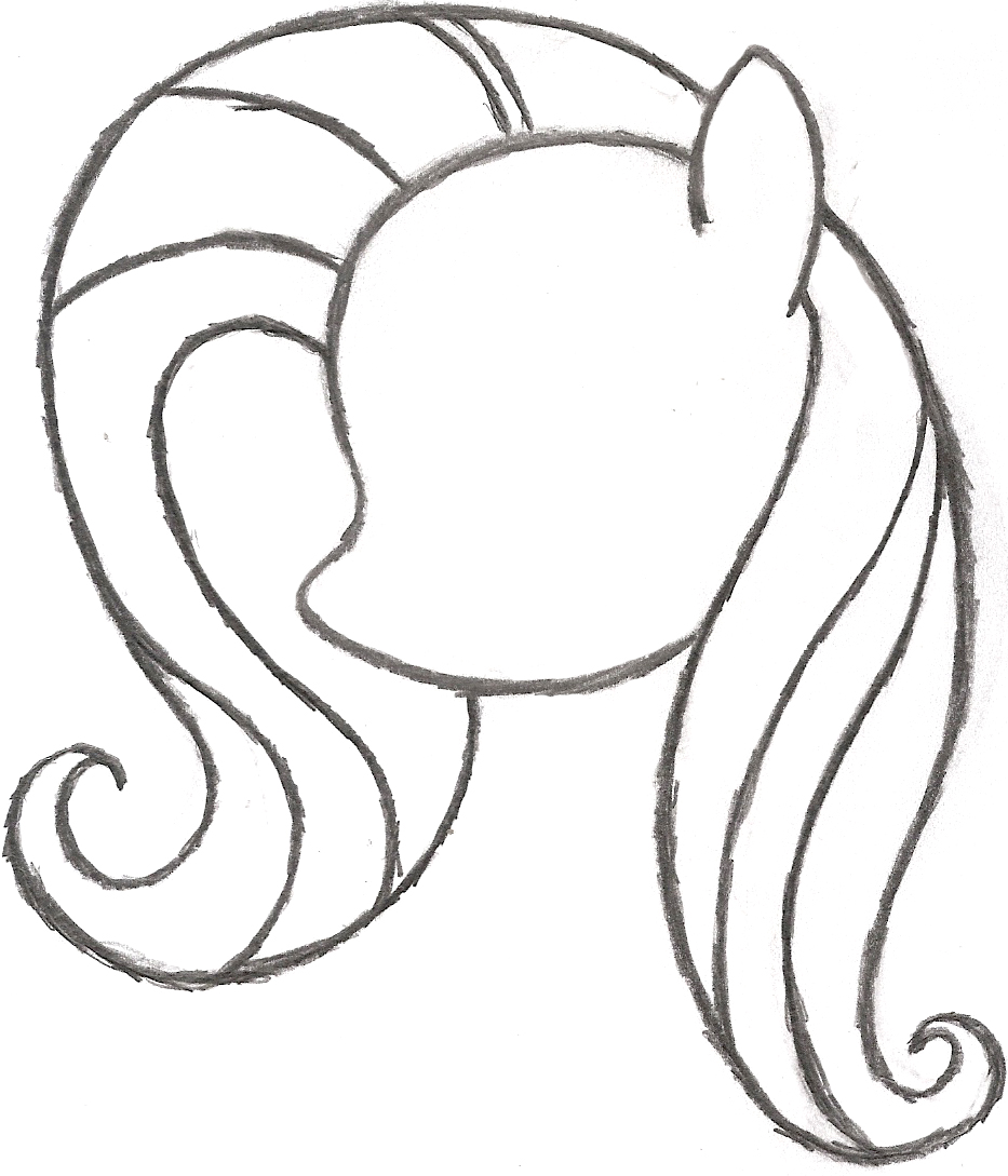 Drawn my little pony sketch Step little to Search by