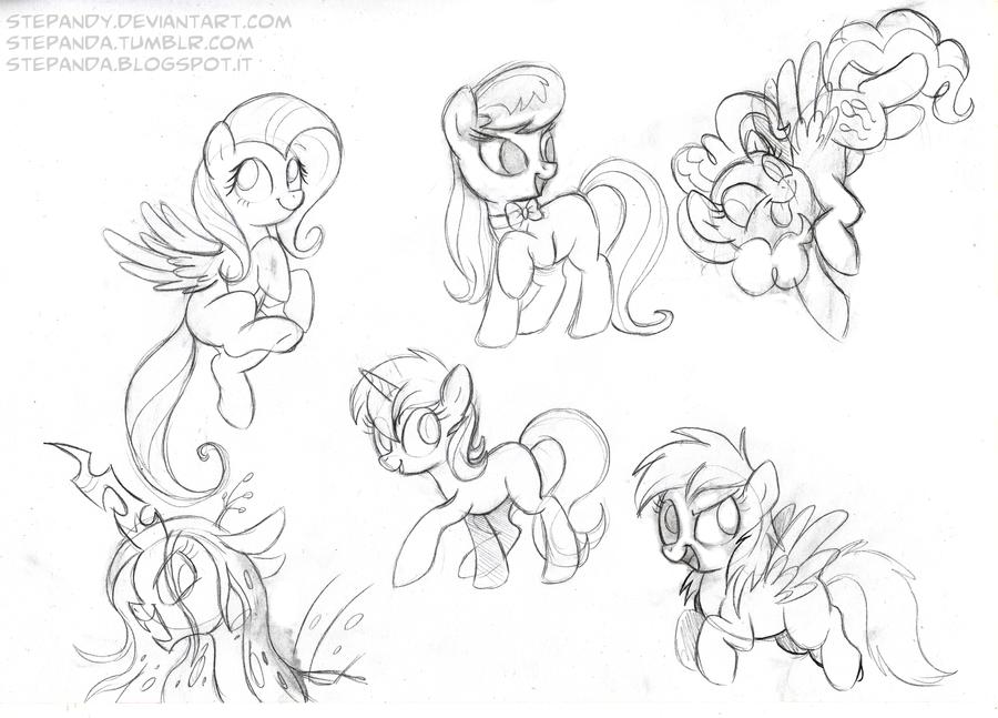 Drawn my little pony sketch Pony Sketches 2 2 Free