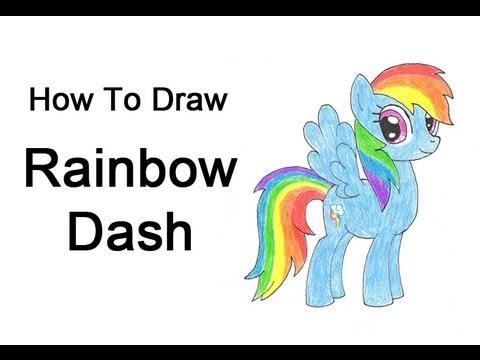 Drawn my little pony small Dash (My How YouTube Draw