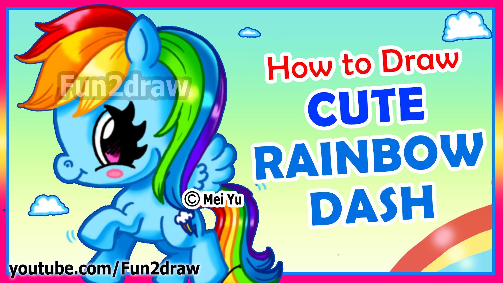 Drawn rainbow cute Draw Little How CUTE My