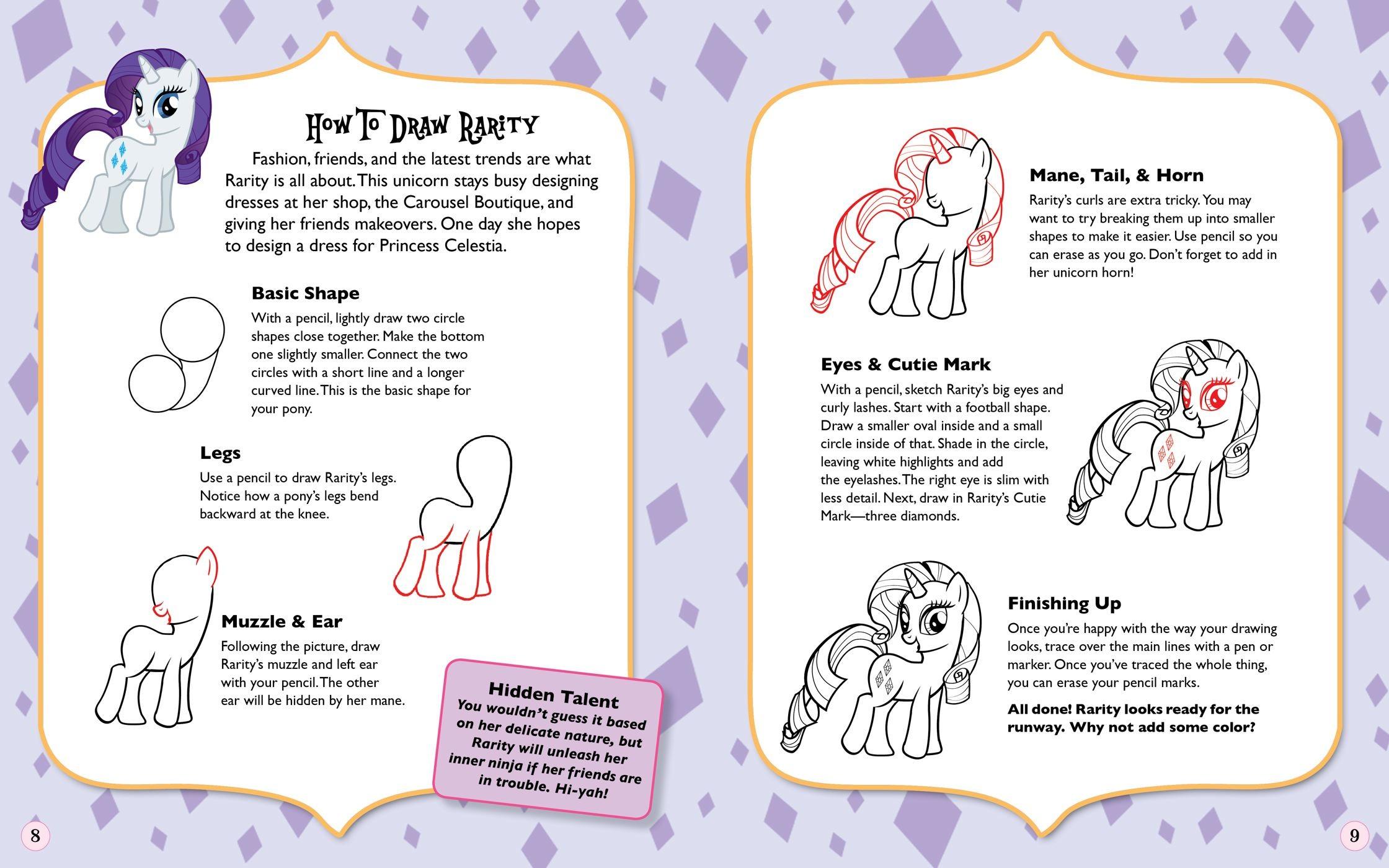 Drawn my little pony small Book i love 9780794428525 Hasbro
