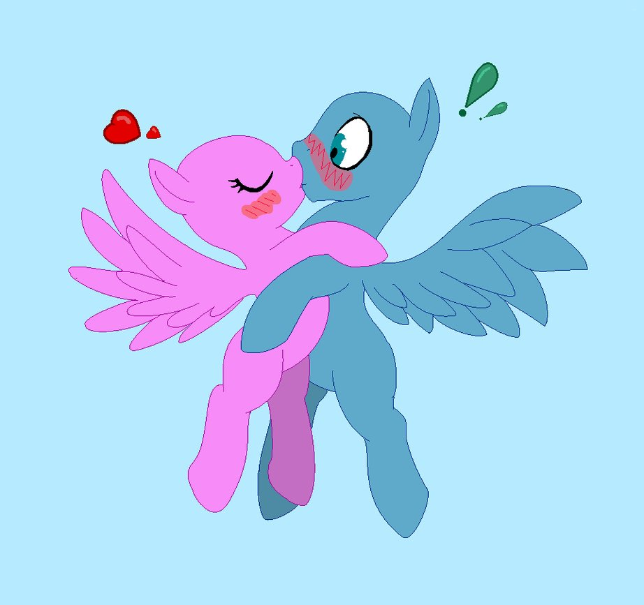Drawn my little pony snooty Pony my base base Kiss