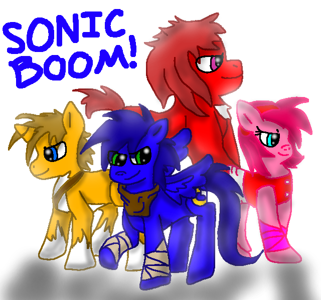 Drawn my little pony sonic amy The hedgehog echidna rose amy