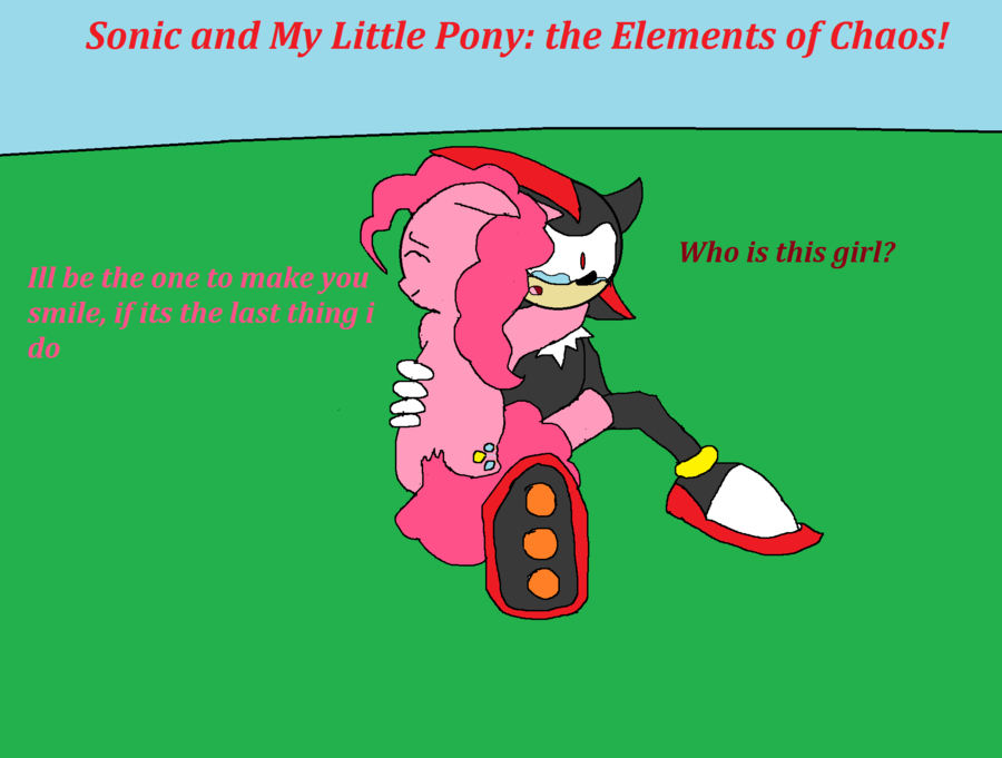Drawn my little pony sonic amy 3 cover MLP by and