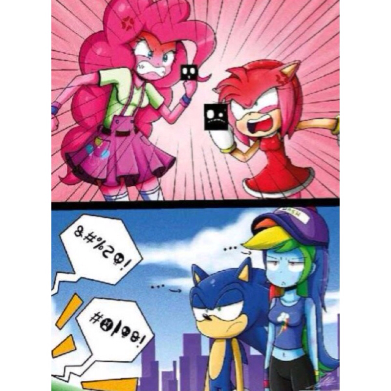 Drawn my little pony sonic amy Faster dash faster! Sonic Dash!