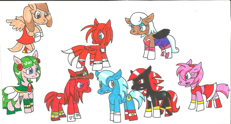 Drawn my little pony sonic character #4