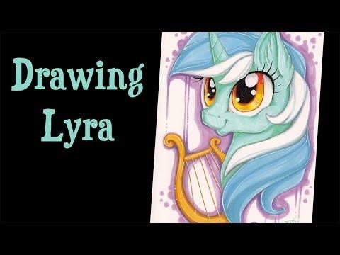 Drawn my little pony speed Lyra Drawing MLP MLP YouTube
