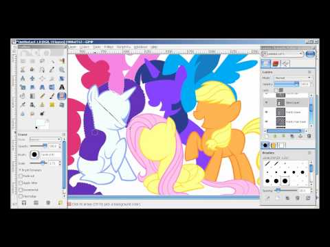 Drawn my little pony speed Gimp gimp YouTube YouTube Pony