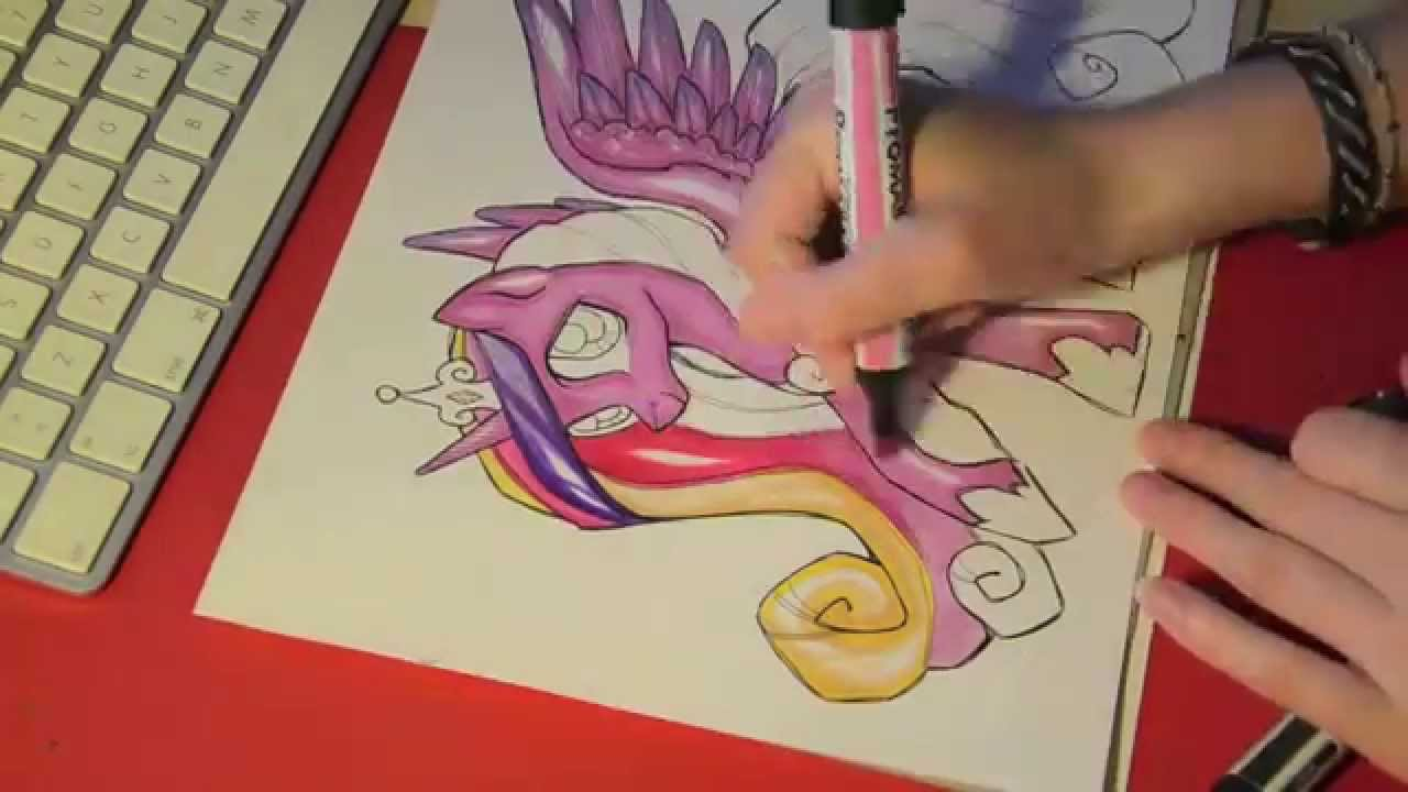 Drawn my little pony speed Drawing  Princess Speed YouTube