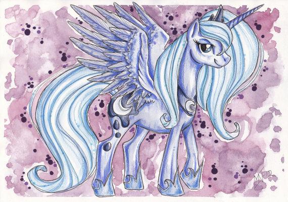 Drawn my little pony speed Original Luna  is little