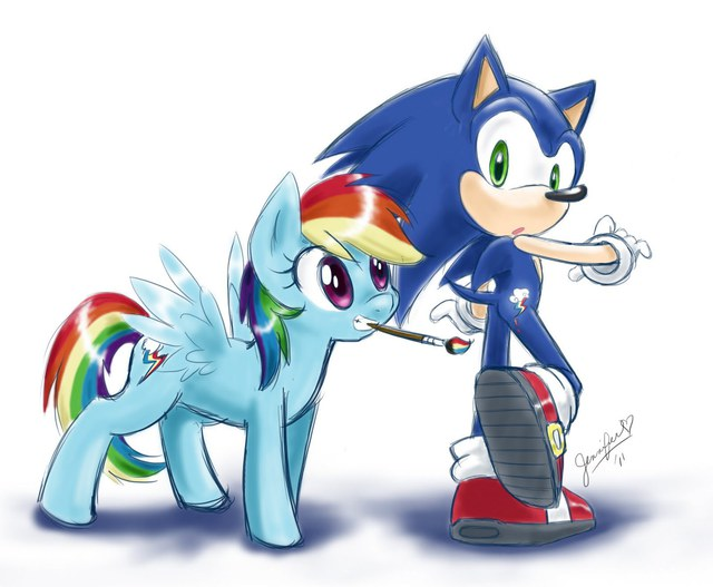Drawn my little pony super sonic Google Pinterest Search rainbow crossovers