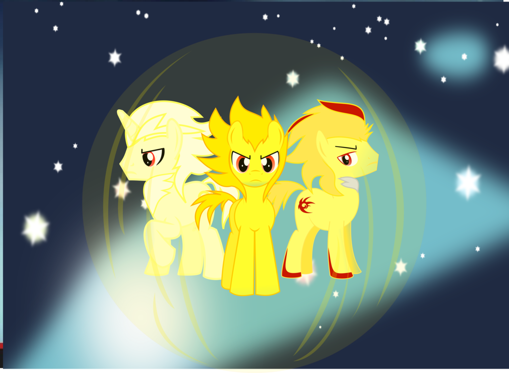 Drawn my little pony super sonic And silver ponies are and