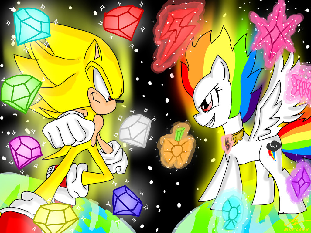 Drawn my little pony super sonic Unleashed/MLP P by Sonic Dash