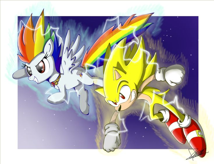 Drawn my little pony super sonic SONIC MLP Rainbow best The