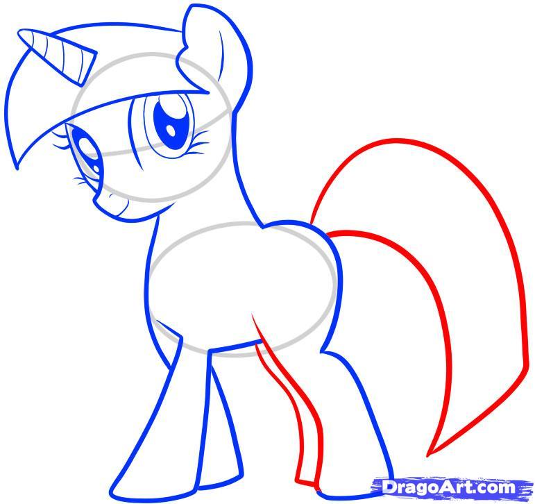 Drawn my little pony twilight Twilight Draw sparkle Twilight Pony
