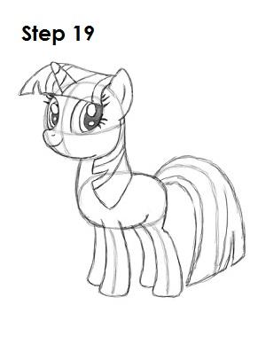 Drawn my little pony twilight Sparkle Twilight Draw Step Sparkle