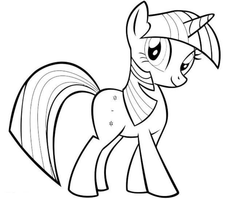 Drawn my little pony twilight Pony Little Coloring  Coloring