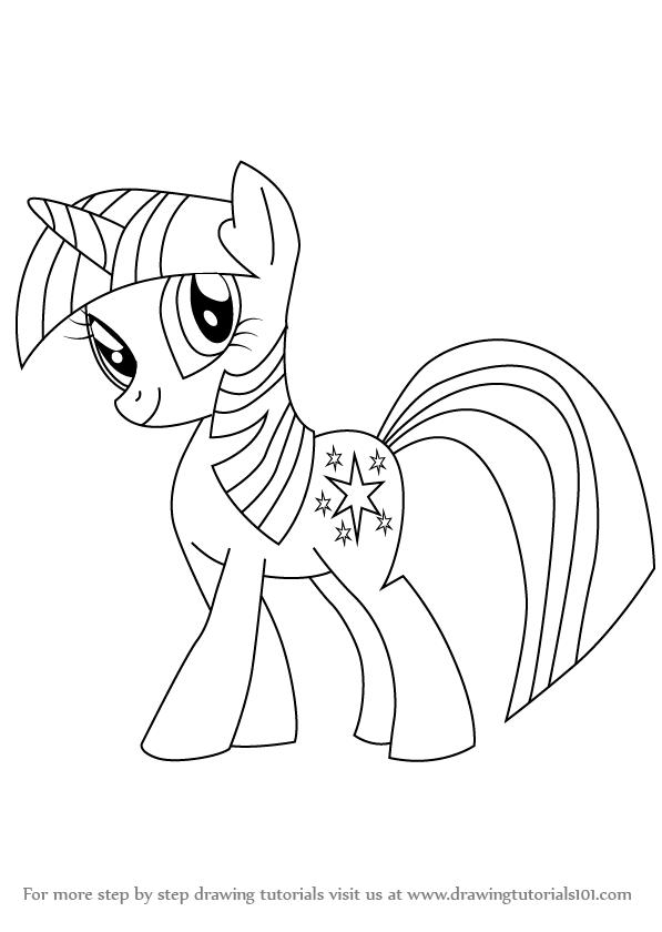 Drawn my little pony twilight Draw to Friendship Little My