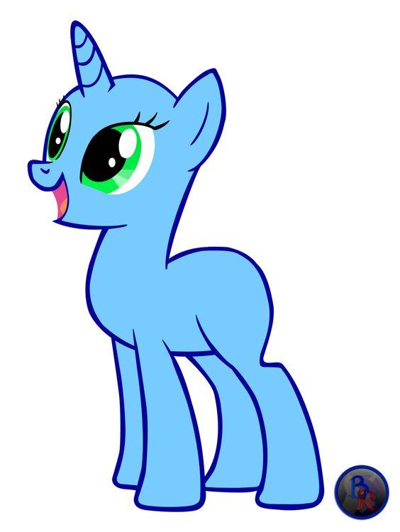 Drawn my little pony unicorn With pegasus pony hair Pony