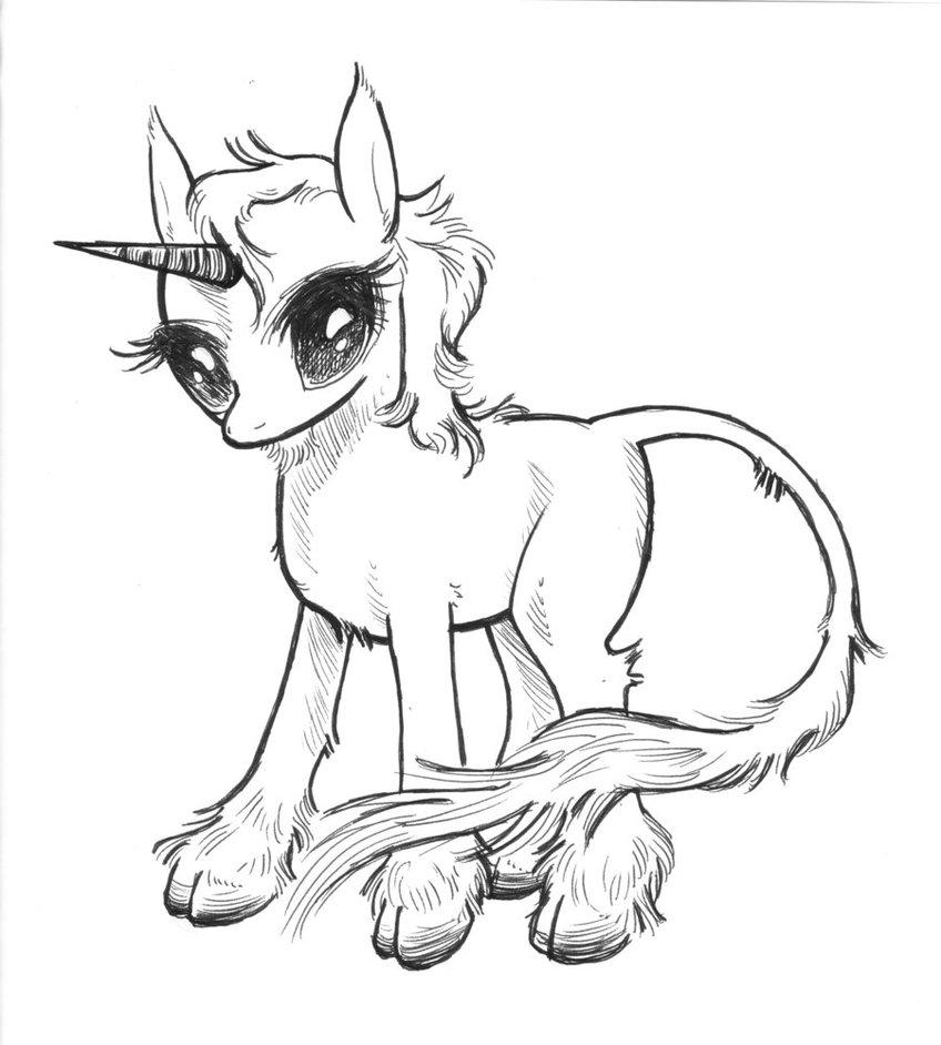 Drawn my little pony unicorn  Pony Little style Unicorn