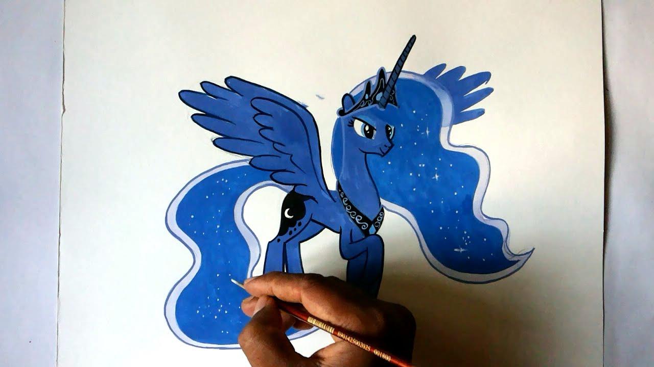 Drawn princess drawing YouTube pony Princess Alicorn draw