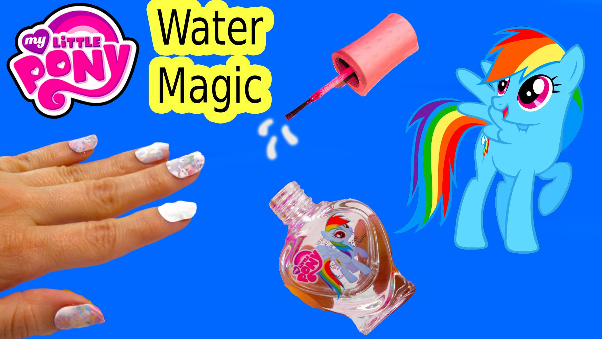 Drawn my little pony water Nail Art Art Review My
