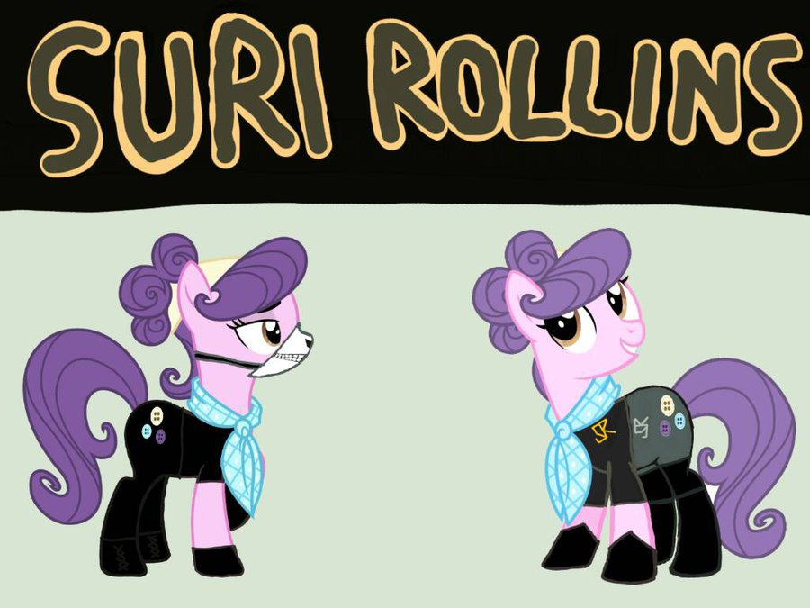 Drawn my little pony wwe By Suri Rollins MLP/WWE Rollins