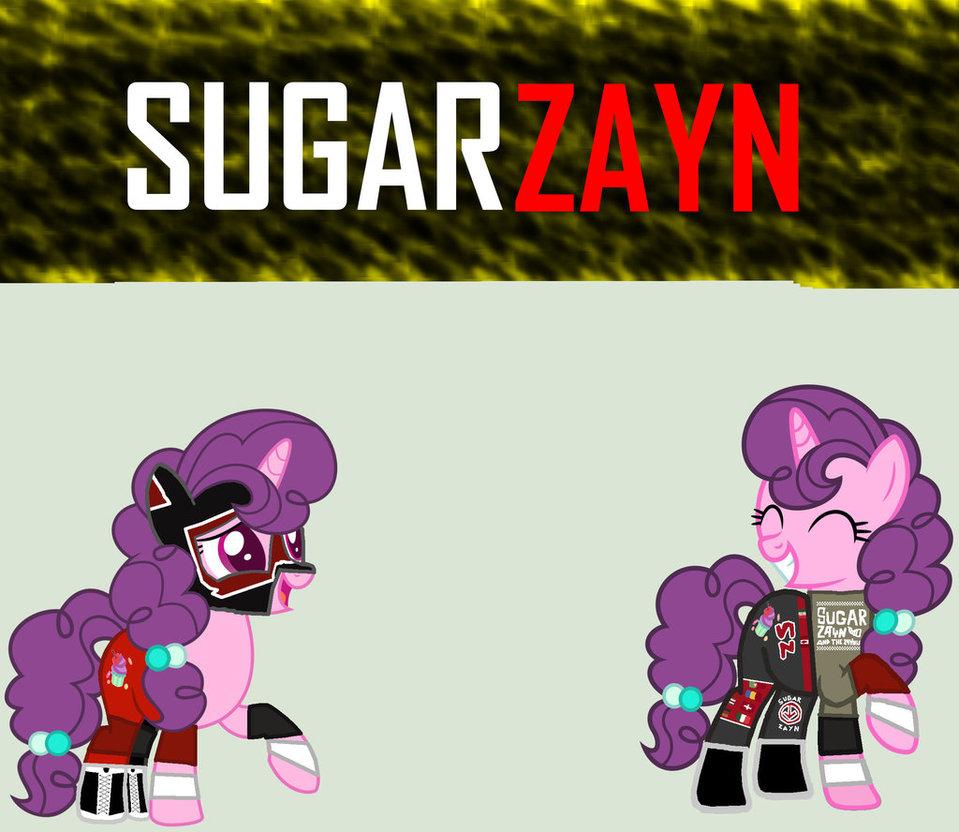 Drawn my little pony wwe By Sugar Zayn MLP/WWE Zayn