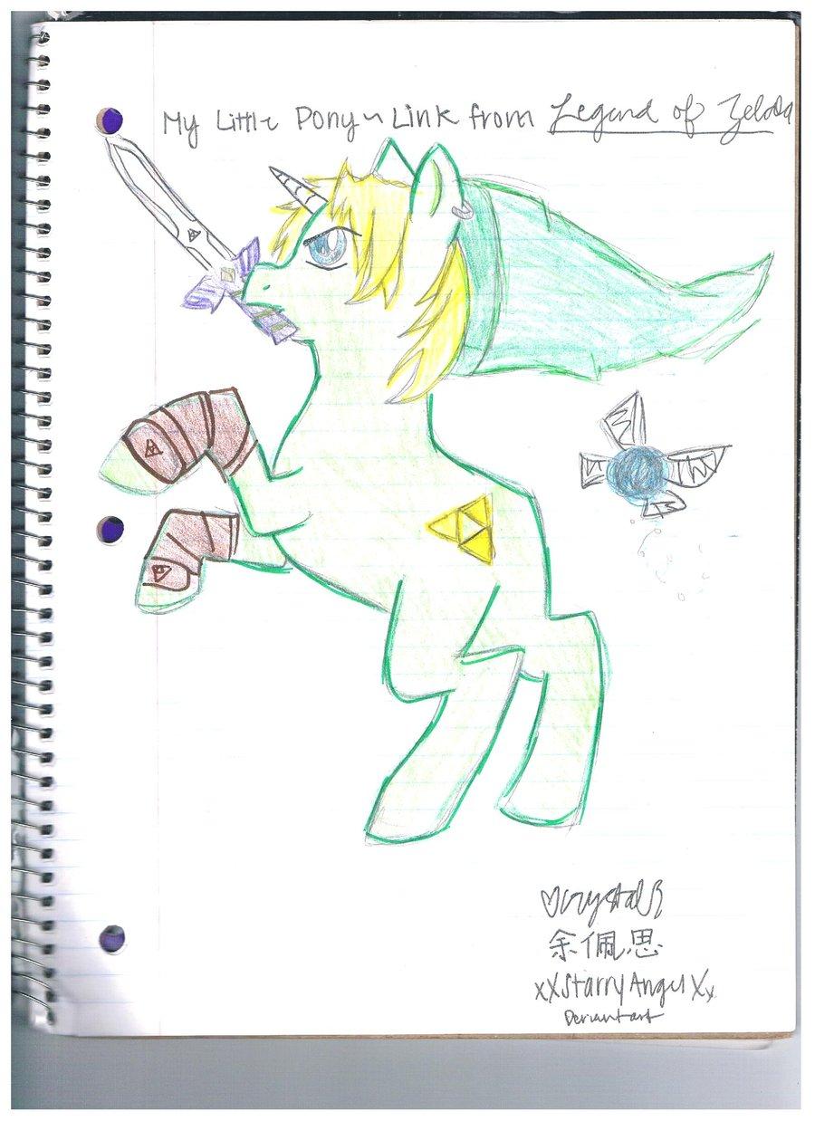 Drawn my little pony zelda Little Zelda Pony~Link Zelda by