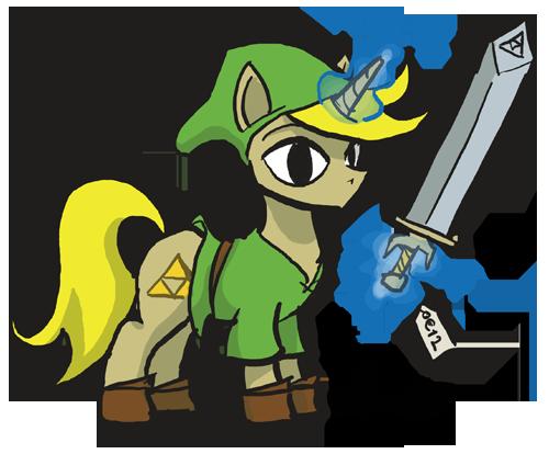 Drawn my little pony zelda Little earth Link 6 pony