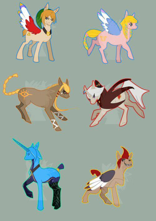 Drawn my little pony zelda #SkywardSword little #MlPFIM