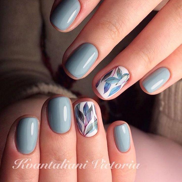 Drawn nail blue Nails Nail spring nails Pinterest