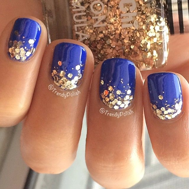 Drawn nail blue More ideas Best and Graduation