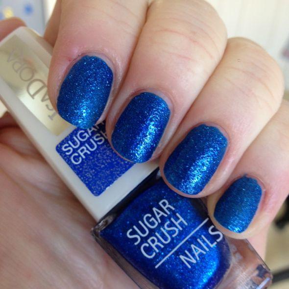 Drawn nail blue Muted Makeup & the shades
