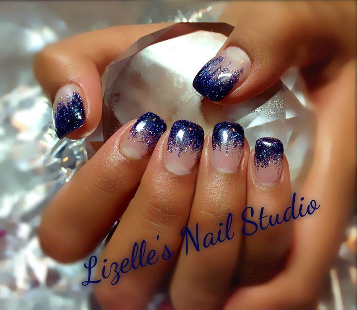 Drawn nail blue Hand www art tips gel