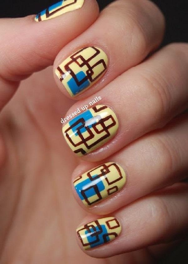 Drawn nail blue Nenuno art yellow Ideas nails
