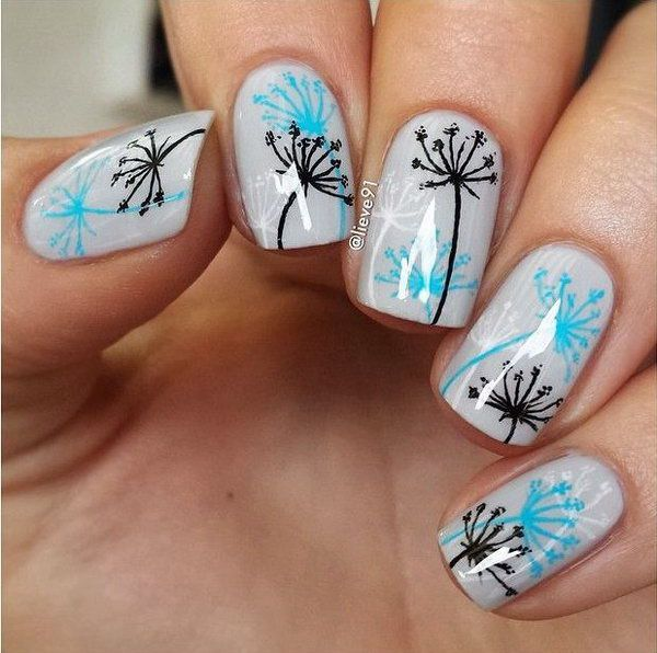 Drawn nail blue Art Design your The Designs