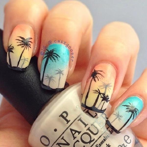 Drawn nail blue Ideas creative of nails Art