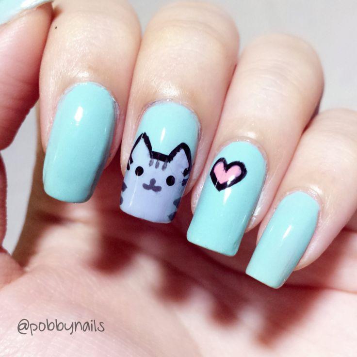 Drawn nail cat Pinterest designs 2014 on ideas