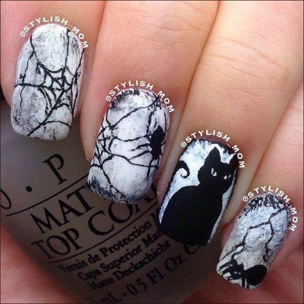 Drawn nail cat  Pinterest art Designs on