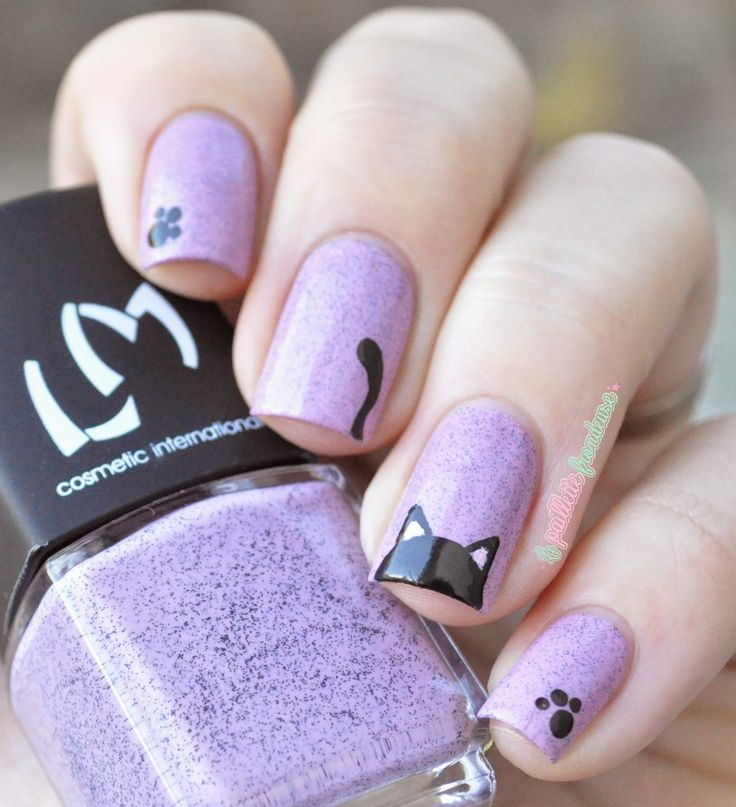 Drawn nail cat Nail compagnie nails de Kitty