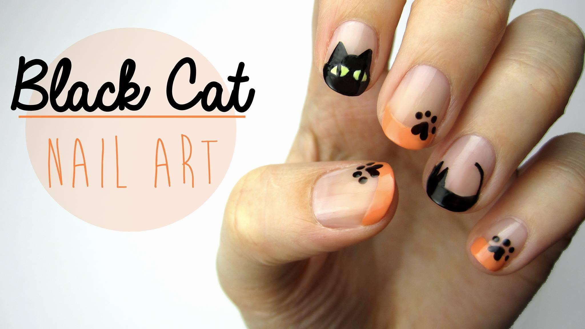 Drawn nail cat Design Cat Black  Art: