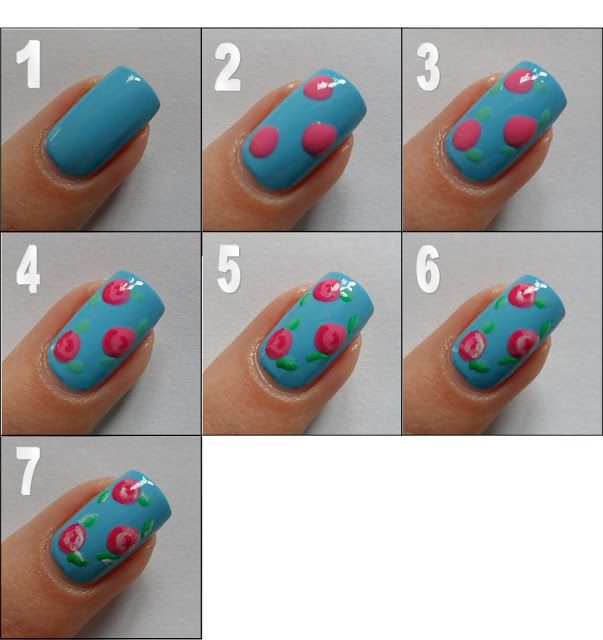 Drawn nail easy Best Nail Rose Pinterest on