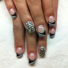 Drawn nail funky And design nail plaid and